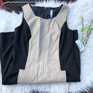 NWT KENSIE Tan and Black Dress Size Small